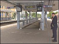 Station staff observe silence