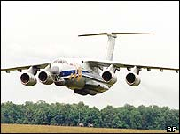 Military transport plane in Russia is similar to the one in the Congo disaster