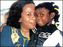Victoria and her great aunt Marie Therese Kouao, who was convicted of the girl's death