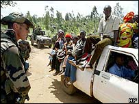 French patrol in Bunia