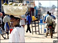 Fruit seller in Bunia