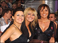 Actresses Angela Lonsdale, Sally Lindsay and Suranne Jones