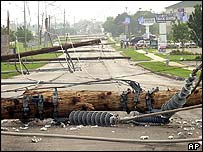 Power lines come down in Edmond, Oklahoma