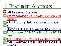 Screengrab from Player Auctions