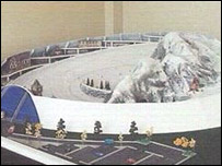 Model of Ski-Trac's revolving ski-slope