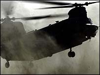 British Chinook helicopter
