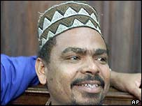 Aboud Rogo Mohammed, one of the four Kenyan men charged with attacking an Israeli-owned hotel in Mombasa