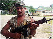Militiaman in the Solomon Islands