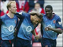 Thierry Henry set up all Fredrik Ljungberg's goals