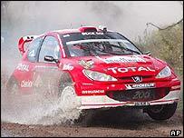 Marcus Gronholm battles on the Argentine tracks