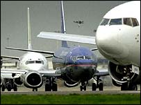 Planes at Heathrow Airport