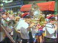 Jazz band at Brecon