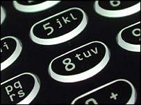 Mobile phone keypad, BBC