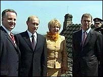President Putin with Jack McConnell and Prince Andrew