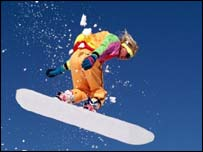 A snowboarder, Eyewire
