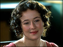 Jennifer Ehle as Elizabeth Bennet in the BBC's Pride and Prejudice