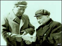 Chinese leaders Mao and Deng