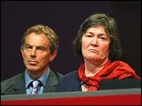 Tony Blair and Clare Short