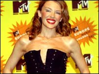 Kylie Minogue at the MTV Europe awards 2001