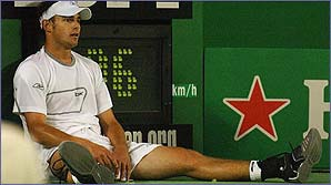 Roddick's opponent Younes El Aynaoui was 11 years older