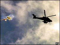 Israeli helicopter gunship