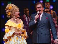 Linda Hart and  Joel Vig in Hairspray