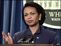 US National Security Adviser Condoleezza Rice