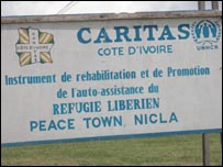 Nicla refugee camp in Ivory Coast