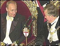 President Putin and Gavyn Arthur, Lord Mayor of London