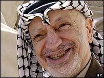 Palestinian leader Yasser Arafat