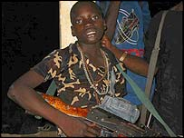 Child Liberian fighter in Ivory Coast