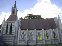 The inflatable church