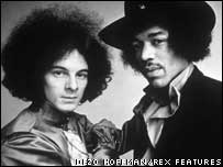 Noel Redding and Jimi Hendrix