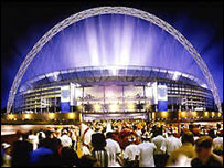 How Wembley will look