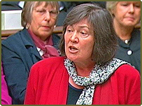 Former International Development Secretary Clare Short makes her resignation speech in the House of Commons