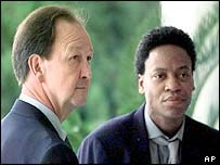 John Lawrence (left) and Tyron Garner. Picture: 1998.