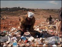 A South African in a rubbish dump