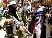 Fighters from the Popular Front for the Liberation of Palestine