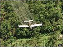 Crop-spraying plane