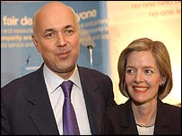 Iain Duncan Smith and his wife, Betsy