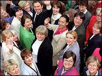 Tony Blair and Labour women MPs