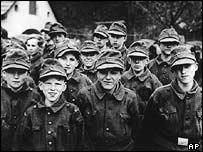 Boy soldiers of the Hitler Youth in 1945