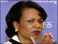 Condoleezza Rice in London this week