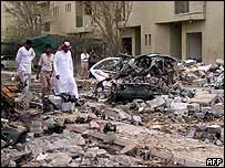 Riyadh bomb devastation