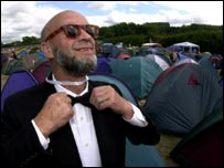Michale Eavis in black tie