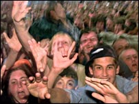 Fans at Glastonbury