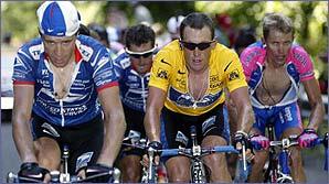Jose Luis Rubiera, Roberto Heras, Lance Armstrong, Raimondas Rumsas