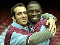 Paolo Di Canio and Marc-Vivien Foe