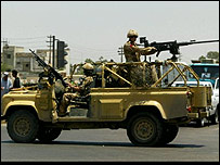British soldiers on patrol in Basra
