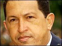 Venezuelian President Hugo Chavez